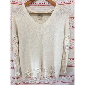 LUCKY BRAND Women's Ivory Sweater Size XLARGE